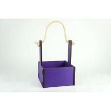 Ящик декоративный малый 15см*15см (цвет фиолетовый)