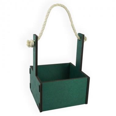 Ящик декоративный малый 15см*15см (цвет изумрудный)