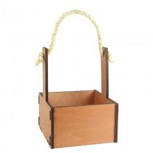 Ящик декоративный малый 15см*15см (цвет коричневый)