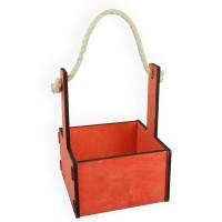 Ящик декоративный малый 15см*15см (цвет красный)