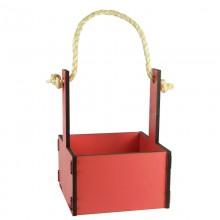 Ящик декоративный малый 15см*15см (цвет розовый)