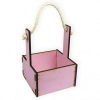 Ящик декоративный малый 15см*15см (цвет нежно-розовый)