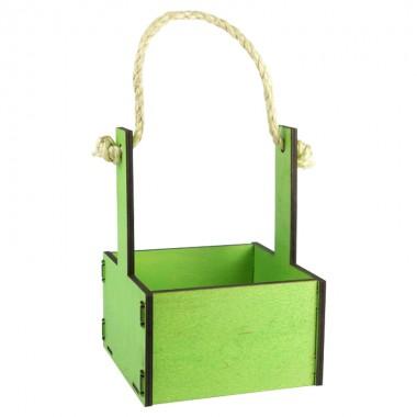 Ящик декоративный малый 15см*15см (цвет зеленый)