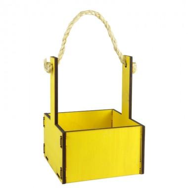 Ящик декоративный малый 15см*15см (цвет желтый)