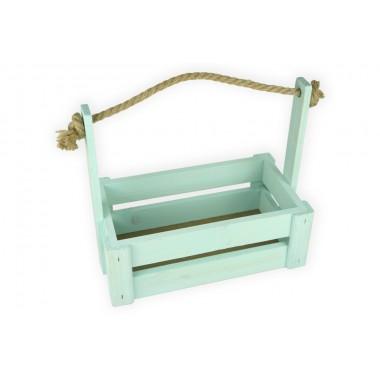 Ящик для цветов большой 26см*14см (цвет бирюзовый)