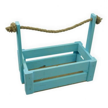 Ящик для цветов большой 26см*14см (цвет голубой)