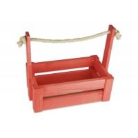 Ящик для цветов большой 26см*14см (цвет красный)
