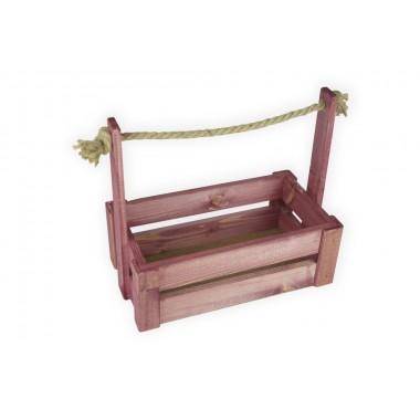 Ящик для цветов большой 26см*14см (цвет махагон)