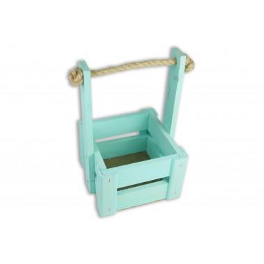 Ящик для цветов малый 14см*14см (цвет бирюзовый)