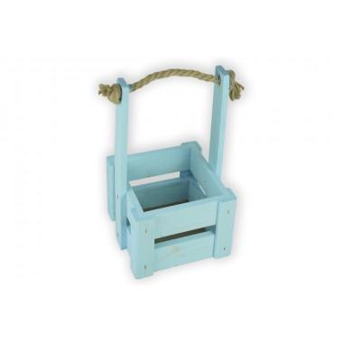 Ящик для цветов малый 14см*14см (цвет голубой)