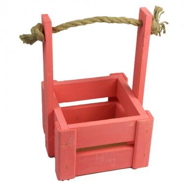 Ящик для цветов малый 14см*14см (цвет коралловый)