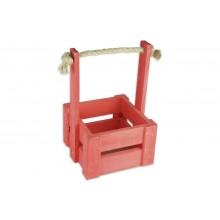 Ящик для цветов малый 14см*14см (цвет красный)