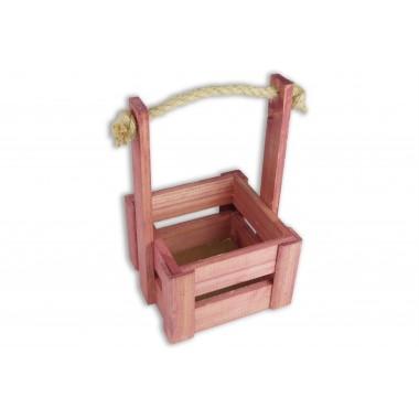 Ящик для цветов малый 14см*14см (цвет махагон)