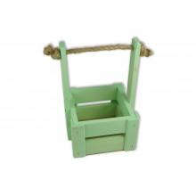 Ящик для цветов малый 14см*14см (цвет мятный)