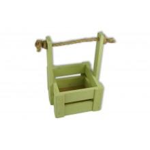 Ящик для цветов малый 14см*14см (цвет оливковый)