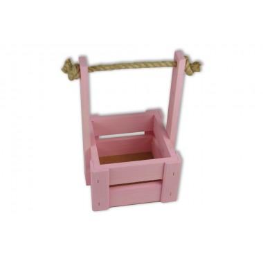 Ящик для цветов малый 14см*14см (цвет светло-розовый)