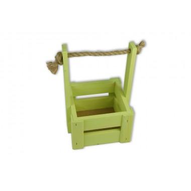 Ящик для цветов малый 14см*14см (цвет салатовый)