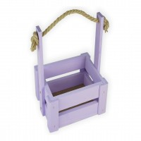 Ящик для цветов малый 14см*14см (цвет сиреневый)