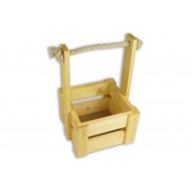 Ящик для цветов малый 14см*14см (цвет сосна)
