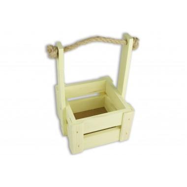 Ящик для цветов малый 14см*14см (цвет желтый)