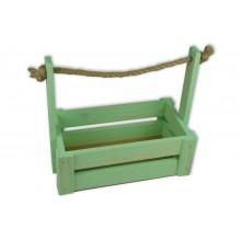 Ящик для цветов большой 26см*14см (цвет мятный)