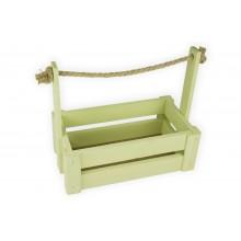 Ящик для цветов большой 26см*14см (цвет оливковый)
