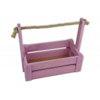 Ящик для цветов большой 26см*14см (цвет розовый)