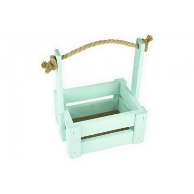 Ящик для цветов средний 18см*14см (цвет бирюзовый)