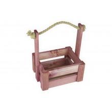 Ящик для цветов средний 18см*14см (цвет махагон)