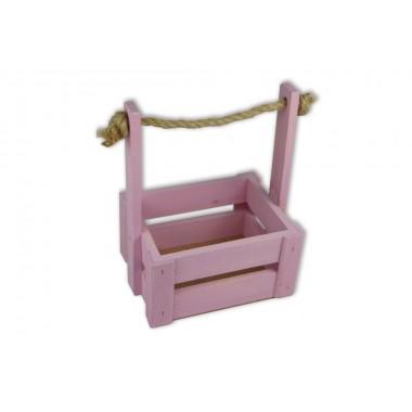 Ящик для цветов средний 18см*14см (цвет розовый)