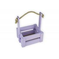 Ящик для цветов средний 18см*14см (цвет сиреневый)