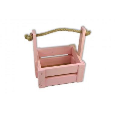 Ящик для цветов средний 18см*14см (цвет светло-розовый)