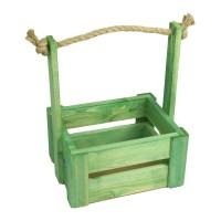 Ящик для цветов средний 18см*14см (цвет зеленый)