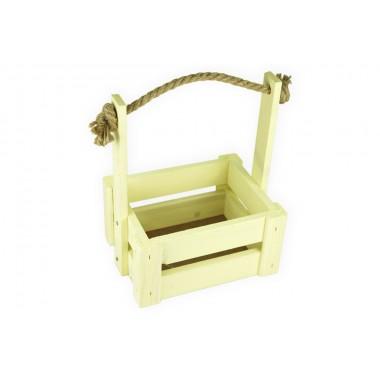 Ящик для цветов средний 18см*14см (цвет желтый)
