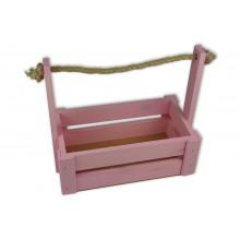 Ящик для цветов большой 26см*14см (цвет светло-розовый)