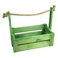 Ящик для цветов большой 26см*14см (цвет зеленый)