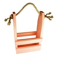 Ящик деревянный декоративный, размер 24см*13см*h38 (цвет персик)