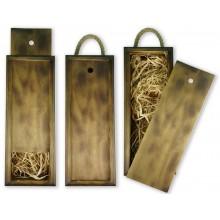 Бокс-пенал деревянный, размер 15см*40см*h10,5 (цвет обожженный)