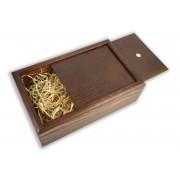 Бокс-пенал деревянный на 1 отделение, размер 32см*20см*h10,5 (цвет коричневый)