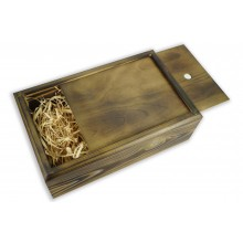 Бокс-пенал деревянный на 1 отделение, размер 32см*20см*h10,5 (цвет обожженный)