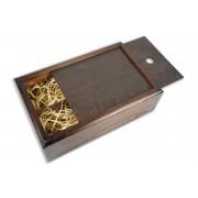 Бокс-пенал деревянный на 2 отделения, размер 32см*20см*h10,5 (цвет коричневый)