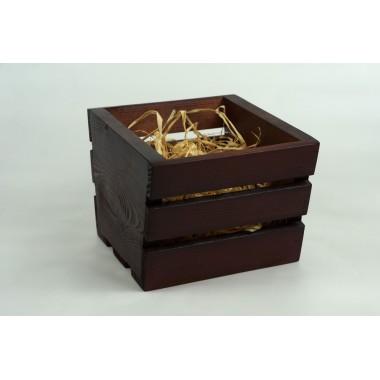 """Ящик деревянный """"трапеция малая"""", размер 17см*19см*h14 (цвет коричневый)"""