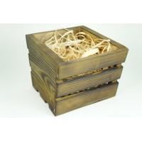 """Ящик деревянный """"трапеция малая"""", размер 17см*19см*h14 (цвет обожженный)"""